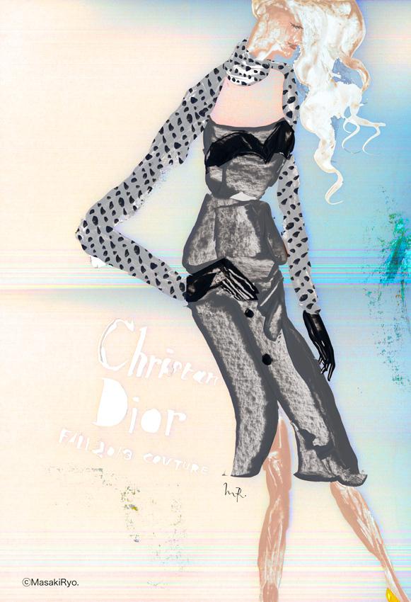 2013秋冬パリオートクチュールコレクションから Dior ディオール2
