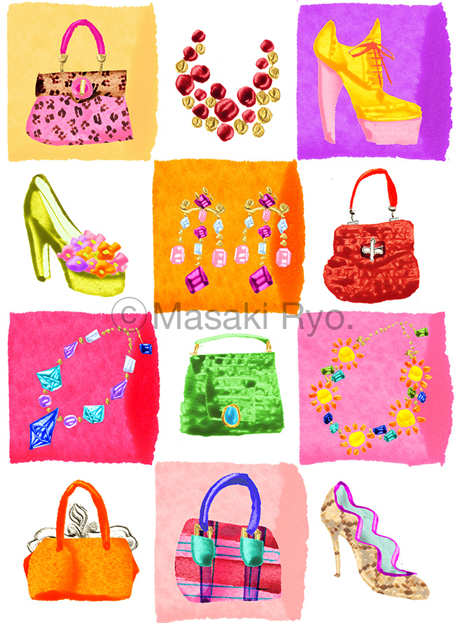 Colorful Shoes & Bags