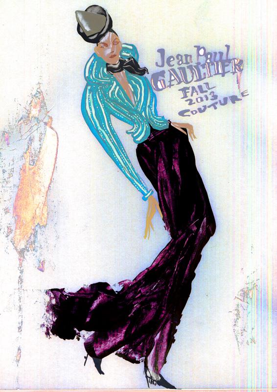 2013秋冬パリオートクチュールコレクションから -Jean Paul Gaultier-2
