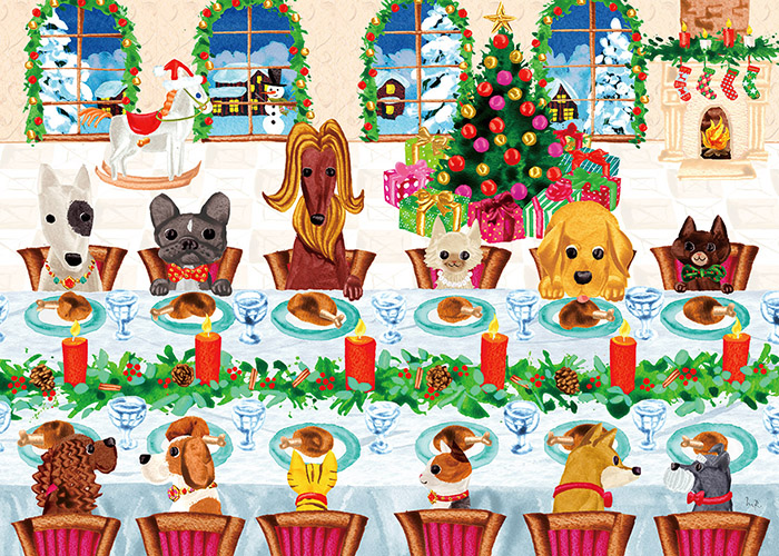 Christmas illustrations for Caspari